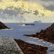 Irish Art, Skellig view from Boat Cove,