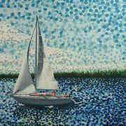 Art 'Sailing with Olivia'