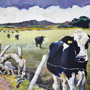 Irish Art, Cows at Dunnalong Road,
