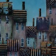Quirky Townscape, Mixed Media