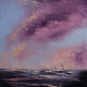 Sails Under Pink Sky