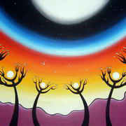 Irish art. 8 Moons, artist Ann Willis, Belfast