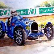 Bugatti 35B at Le Mans