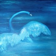 Rising Swan, Oil on Canvas