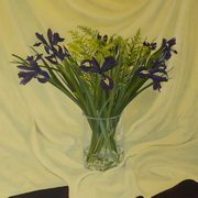 Irish Art, Purple Irises,