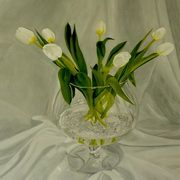 Irish Art, Spring Tulips In Brandy Bowl,