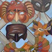 Masks in Orvietto, Italy