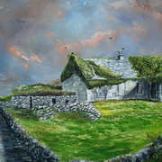 Art 'ivy covered house inish more aran islands'