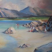 Irish Art, Donegal Beach Scene,
