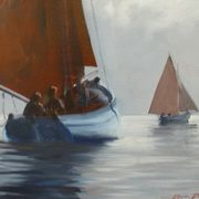 Irish Art, Silver Morning Galway Hookers,