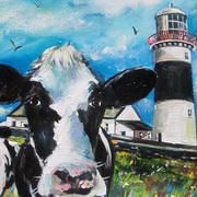 Paud's Cows Minehead lighthouse