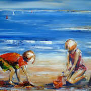 Irish Art, Building Sandcastles,