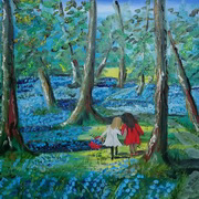 Art 'Picking Bluebells'