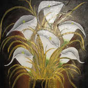 Irish Art, Vase of Lilies,