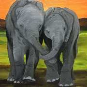 Art 'Twin Elephants'
