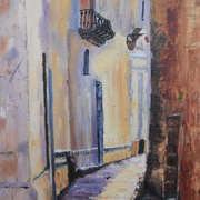 Irish art. Galway Lanes, artist Claire Lyons, Dublin and Galway