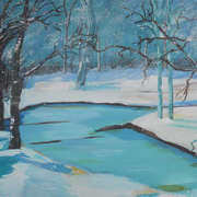 Irish art. Lost In The Snow, artist Claire Lyons, Dublin and Galway