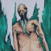 Figure In Forest