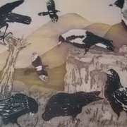 Birds Talk-at sunset