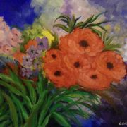 Irish Art, Spring Flowers,