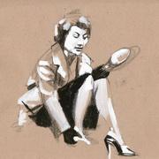 Girl with Shoe