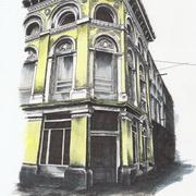 Wolfe Tone Street, D1, Pen, ink, acrylic