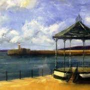 Irish art. East Pier Bandstand, artist Derek Lyons, Dublin