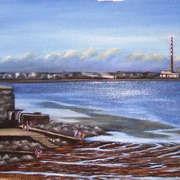 Irish art. Seapoint, artist Derek Lyons, Dublin