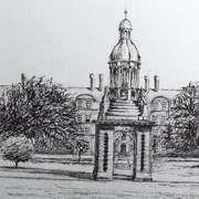 Irish art. Trinity College, artist Derek Lyons, Dublin