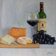 1846 Three Cheeses, oil on board