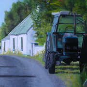 1949 Parked Up, oil on panel