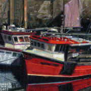 Irish Art, Red and White,
