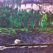 Lonesome, Boatman, Kerala, India