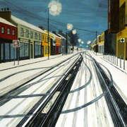Tracks in the snow, 5am Kildare