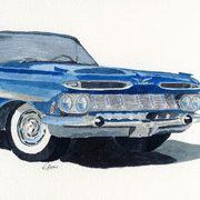 art, Chevy Impala, artist Eva-Marie Ason, Sweden and Dublin
