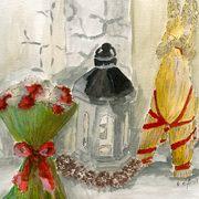 art, Christmas Decorations, artist Eva-Marie Ason, Sweden and Dublin