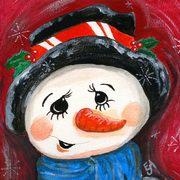 art, Christmas Night, artist Eva-Marie Ason, Sweden and Dublin