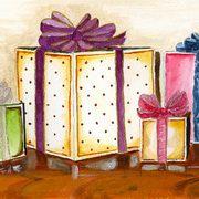 art, Christmas Presents, artist Eva-Marie Ason, Sweden and Dublin