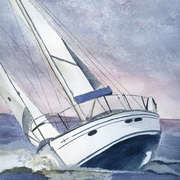 Irish Art, Sailing I,