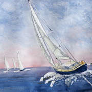 Irish Art, Sailing II,