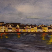 Irish Art, The Long Walk - A Clear Night,
