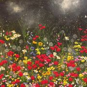 Irish Art, Garden of night Flowers,