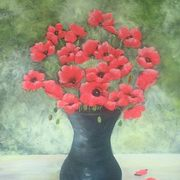 Irish Art, Poppy Vase,