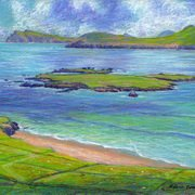 Art 'Beginish Island and Mainland, from Great Blasket Island'