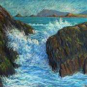 Irish Art, On Beal Ban Beach Gt. Blasket,