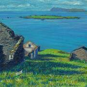 On Great Blasket Island, Viewing Ruins, Beginis and Sybil Head