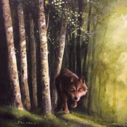 Lone Wolf of the Aspen Forest