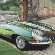 Racing Green E-Type Jaguar