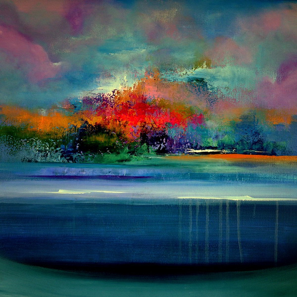 Jaanika talts estonian artist estonia and dublin ireland for Pintura azul turquesa