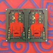Art 'Putaba, Acrylic on PCB'